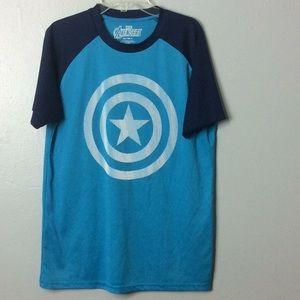 Marvel Avengers Mens Blue 100% Poly TShirt Sz S